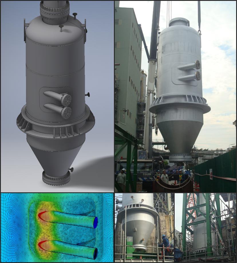 Vent Separator by JMD - Pressure Vessel Design - FEA